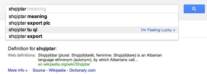 Ca kerkon shqiptari ne Google?