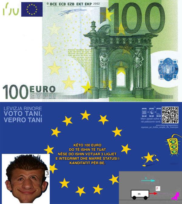 3 ligje, 100 euro, 1 dashnore
